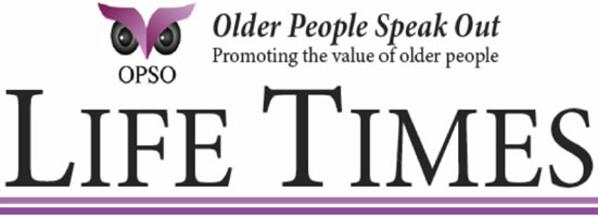 OPSO Newsletter Masthead - Older People Speak Out