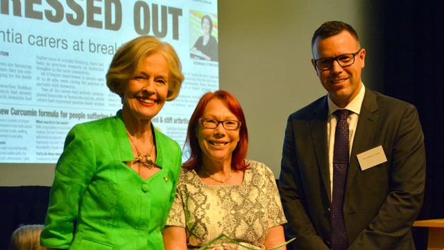OPSO Media Awards Winner 2015-Cheryl Field, Dame Quentin Bryce & Daniel Aitchison TriCare