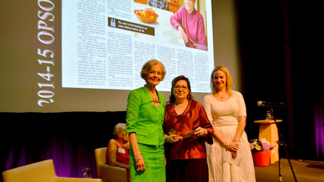 OPSO Media Awards Winner 2015-Dianne Dempsey, Dame Quentin Bryce & Anna Hilton RACQ