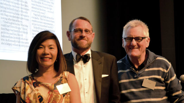 OPSO Media Awards Winner 2015 -Tim Nolan, Chiou See Anderson from Elements & Tim Moseley Dept of Health